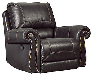 Milhaven Recliner, Black, large