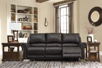 Ashley Milhaven Reclining Sofa, Black
