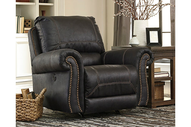 Milhaven Power Recliner, Black, large