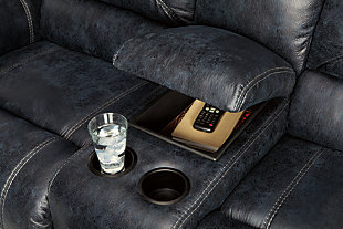 Milhaven Power Reclining Loveseat with Console, , large