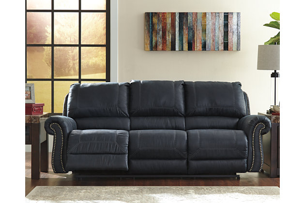 Milhaven Reclining Sofa by Ashley HomeStore, Navy