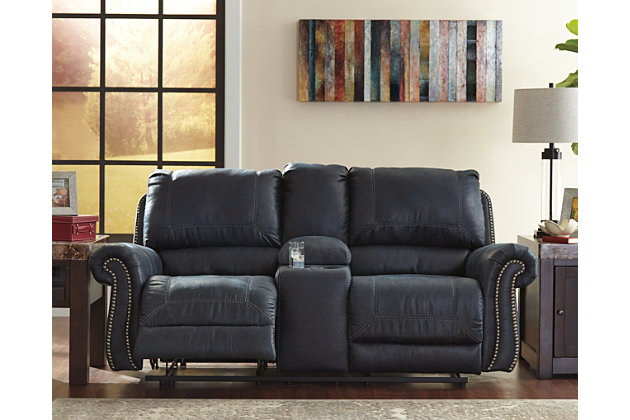 Milhaven Reclining Loveseat with Console by Ashley HomeSt...