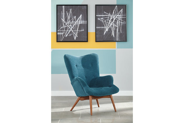 Pelsor Accent Chair by Ashley HomeStore, Turquoise