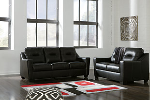 Kensbridge Sofa and Loveseat, Black, large