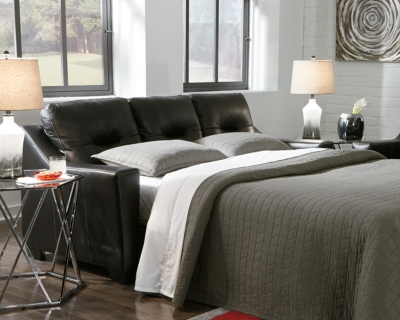 Ashley Kensbridge Queen Sofa Sleeper, Black Leather