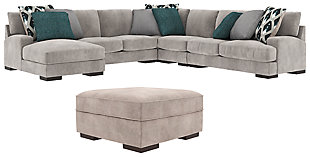 Bardarson 5-Piece Sectional with Ottoman, , large