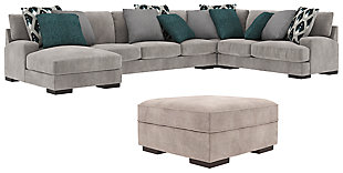 Bardarson 4-Piece Sectional with Ottoman, , large
