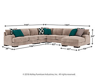 Bardarson 5-Piece Sectional with Chaise, , large