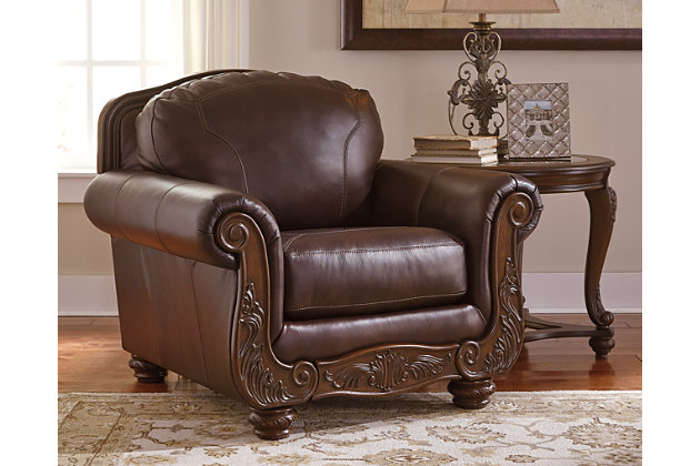 Mellwood Chair by Ashley HomeStore, Brown, Leather (100 %)