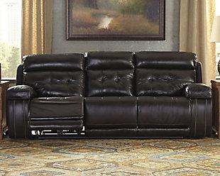 Graford Power Reclining Sofa, Walnut, rollover
