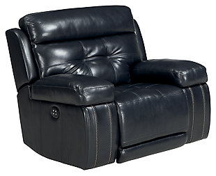 Graford Power Recliner, Navy, large