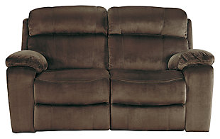 Uhland Power Reclining Loveseat, Chocolate, large