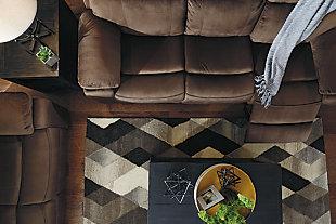 Uhland Power Reclining Sofa, Chocolate, large
