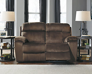 Uhland Power Reclining Loveseat, Chocolate, rollover