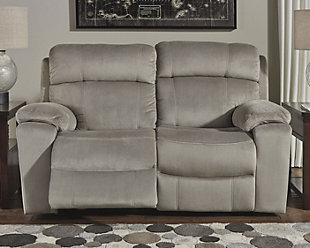 Uhland Power Reclining Loveseat, Granite, rollover