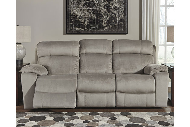 Uhland Power Reclining Sofa, Granite, Large ...