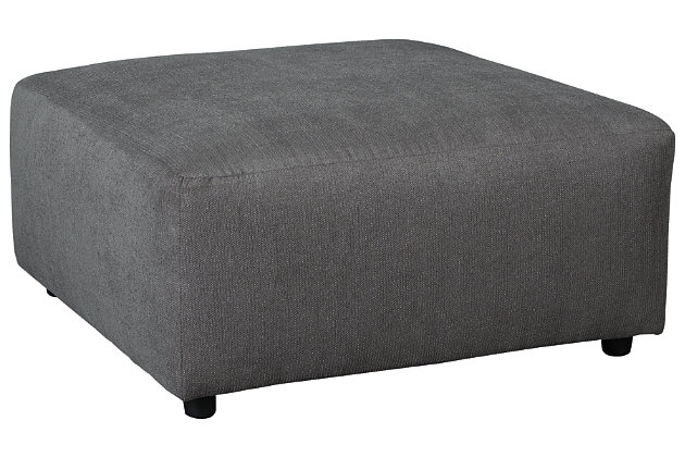 Jayceon Oversized Ottoman, Steel, large