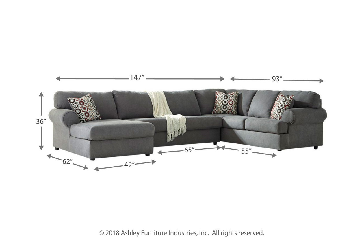 Admirable Jayceon 3 Piece Sectional With Chaise Ashley Furniture Uwap Interior Chair Design Uwaporg