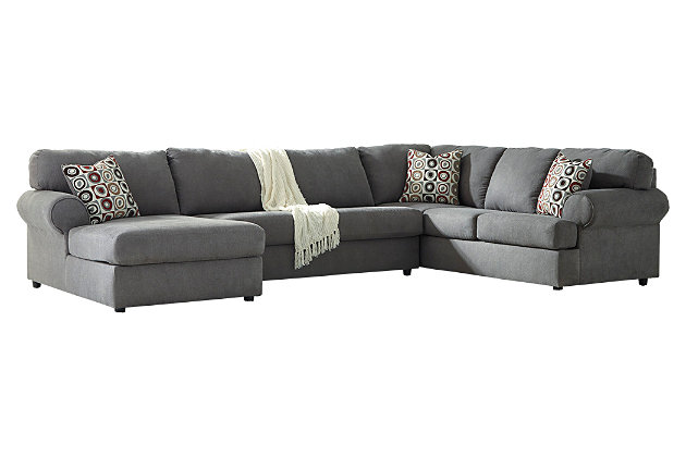 Outstanding Jayceon 3 Piece Sectional With Chaise Ashley Homestore Inzonedesignstudio Interior Chair Design Inzonedesignstudiocom