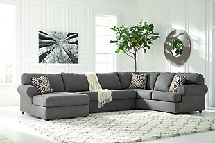 Jayceon 3-Piece Sectional with Chaise, Steel, rollover