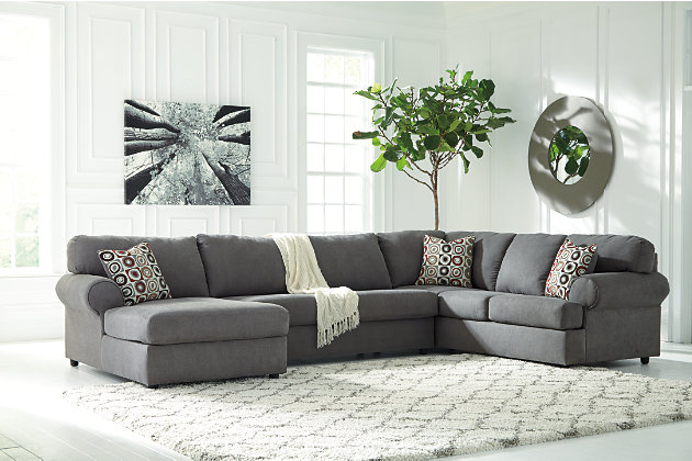 Jayceon 3 Piece Sectional, Steel, Large ...