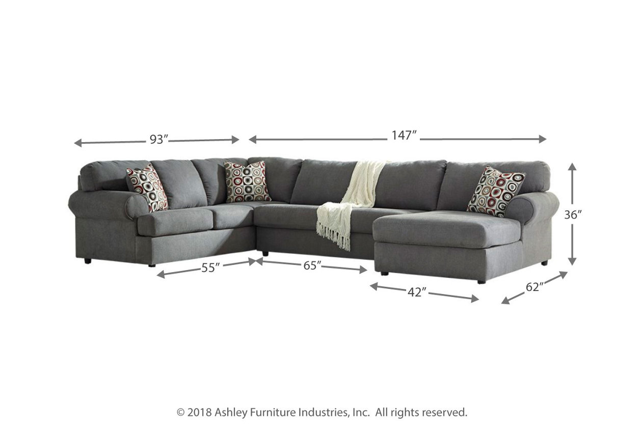 Jayceon 3 Piece Sectional With Chaise Ashley Furniture Homestore