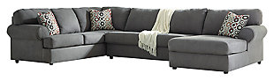 Jayceon 3-Piece Sectional with Chaise, Steel, large
