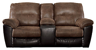 Follett Reclining Loveseat with Console, , large