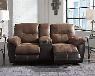 Follett Reclining Loveseat with Console, , rollover