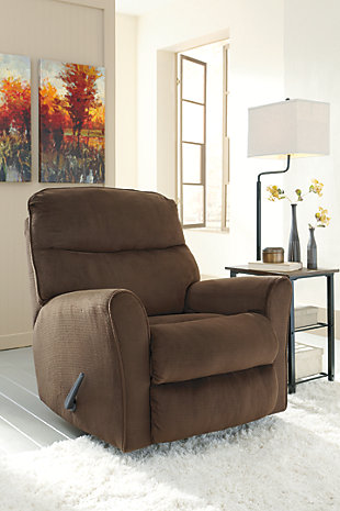Cossette Recliner, Chocolate, large