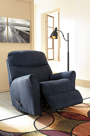 Cossette Recliner, Midnight, large