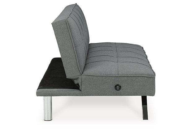 Santini Flip Flop Armless Sofa, Gray, large
