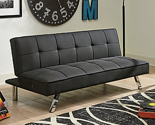 Santini Flip Flop Armless Sofa, Black, rollover