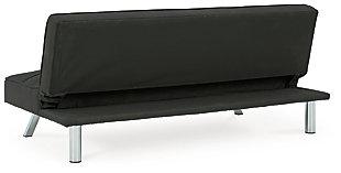 Santini Flip Flop Armless Sofa, Black, large