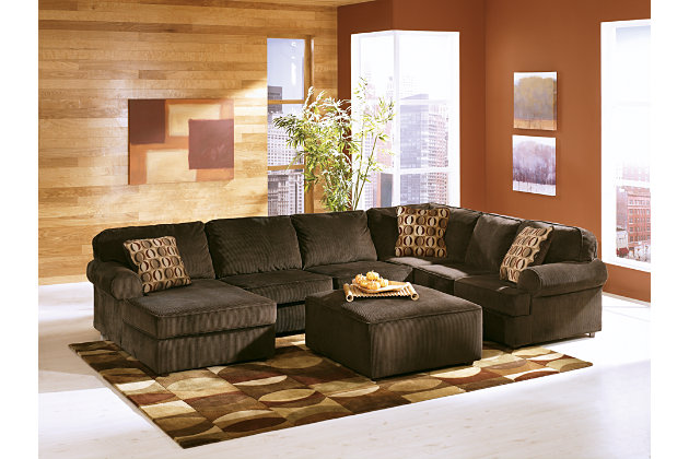 Exceptionnel ... Vista 3 Piece Sectional, Chocolate, Large ...