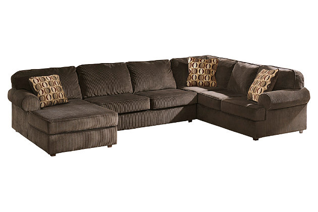 Brown corduroy sofa dfs destiny large 4 seater sofa brown for Ashley brown sofa chaise
