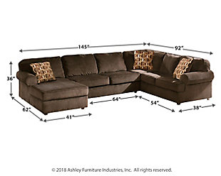 Vista 3-Piece Sectional, Chocolate, large