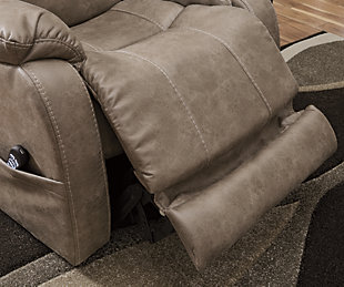 Barling Power Recliner, Mushroom, large