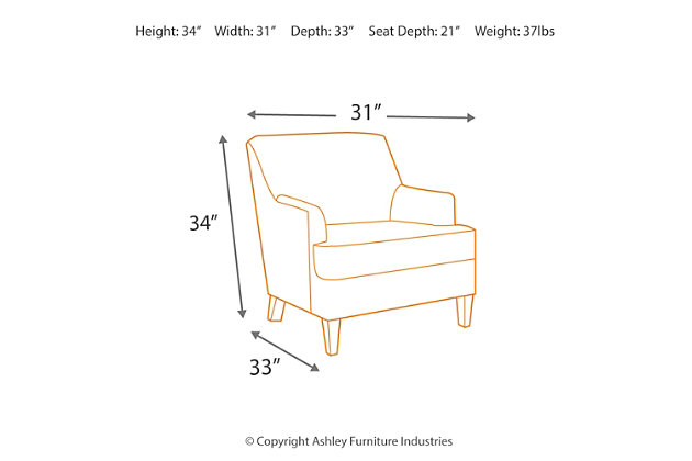 Crislyn Accents Chair, , large