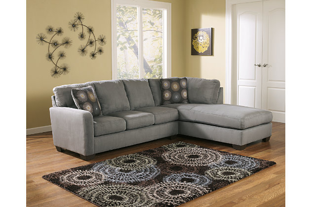 Zella 2 Piece Sectional With Chaise Ashley Furniture