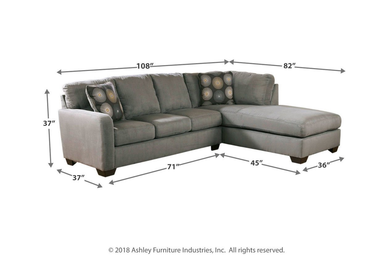 Remarkable Zella 2 Piece Sectional With Chaise Ashley Furniture Homestore Ncnpc Chair Design For Home Ncnpcorg