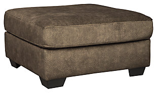 Accrington Oversized Ottoman, Earth, large