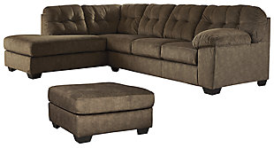 Accrington 2-Piece Sectional with Ottoman, Earth, rollover