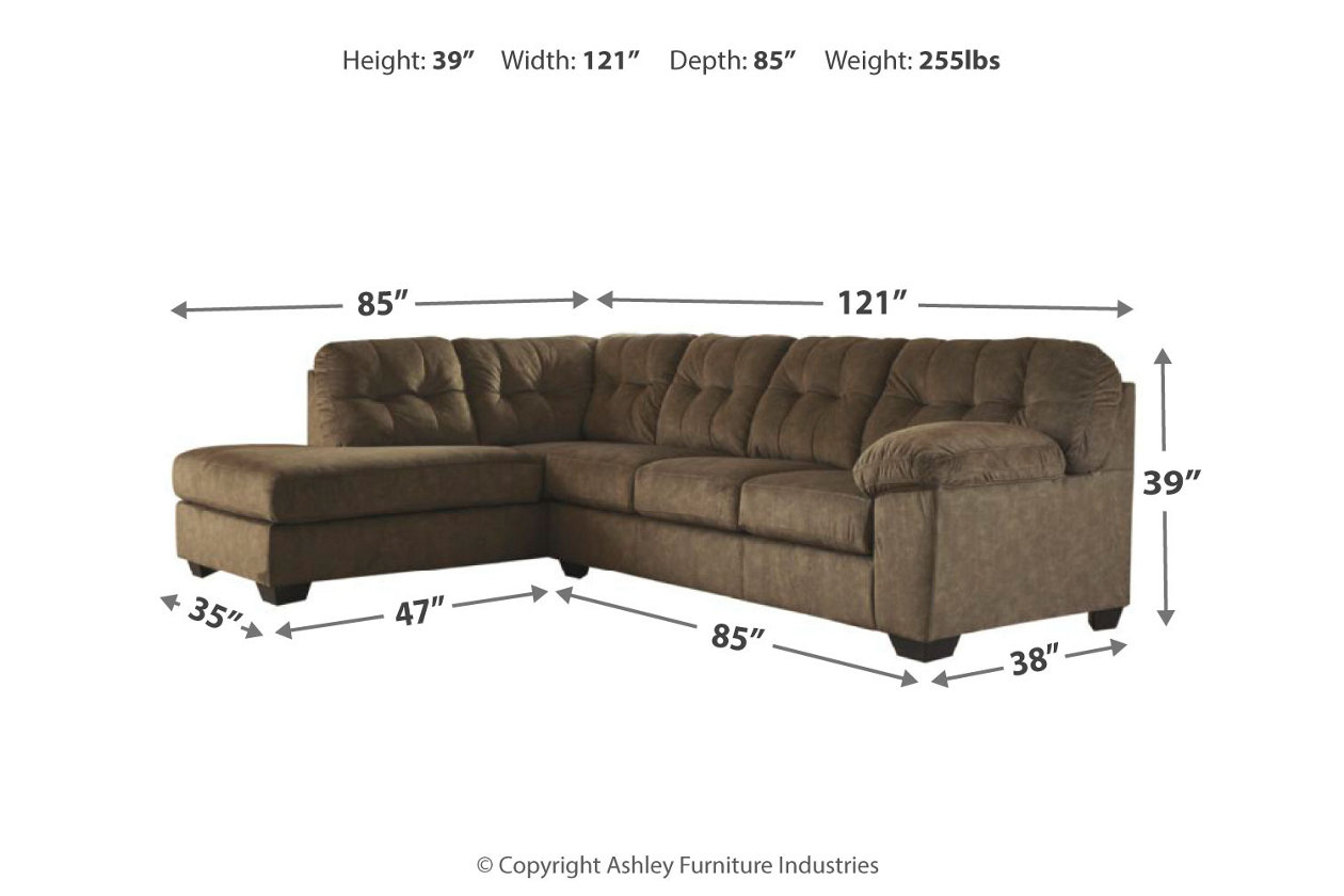 Accrington 2-Piece Sectional with Chaise | Ashley Furniture ...
