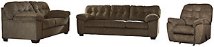 Accrington Sofa, Loveseat and Recliner, Earth, large