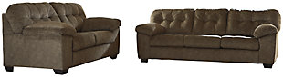 Accrington Sofa and Loveseat, Earth, rollover