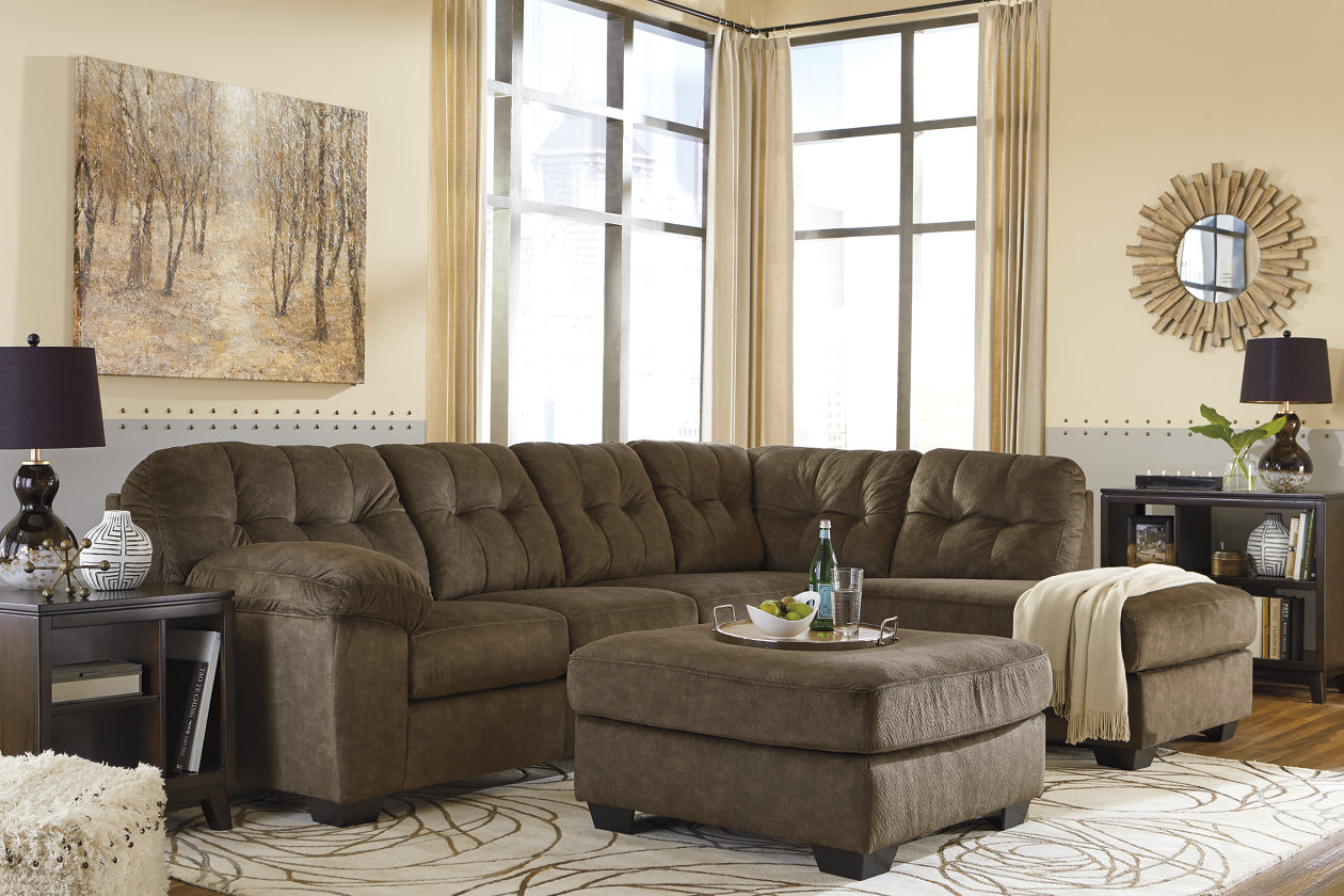 Outstanding Accrington 2 Piece Sectional With Chaise Ashley Furniture Cjindustries Chair Design For Home Cjindustriesco