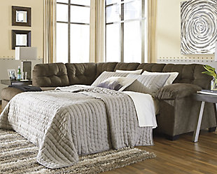 Accrington 2-Piece Sleeper Sectional with Chaise, Earth, rollover