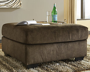 Accrington Oversized Ottoman, Earth, rollover