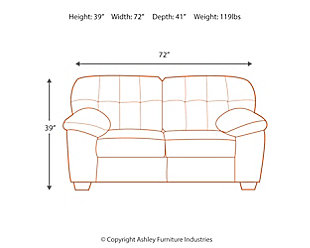 Accrington Loveseat, Earth, large